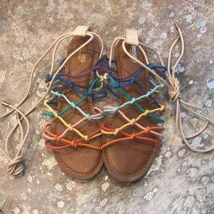 Mossimo Rainbow Gladiator Sandals